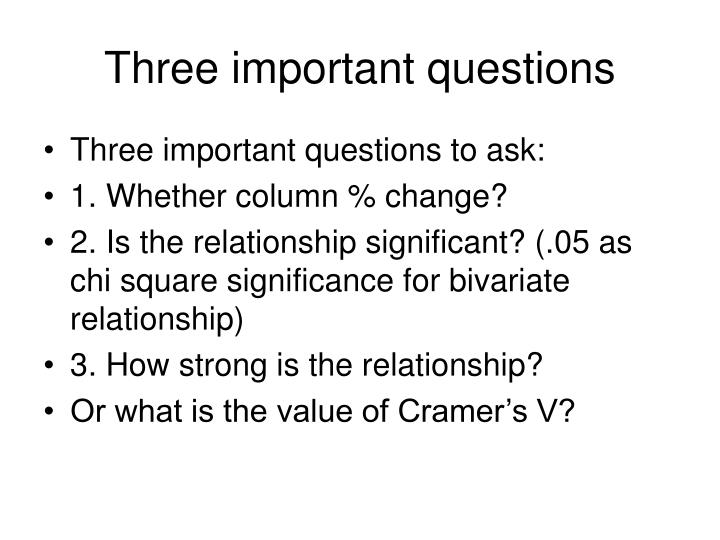three important questions n.