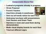 compostable waste pilot