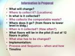information in proposal