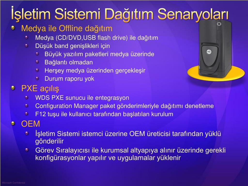 İşletim Sistemi Dağıtım Senaryoları