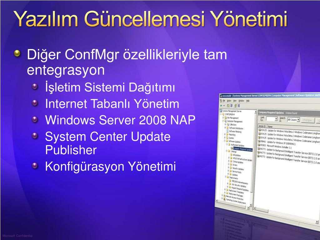 Yazılım Güncellemesi Yönetimi