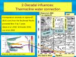 2 decadal influences thermocline water connection