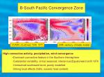 b south pacific convergence zone
