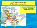 swpacific and climate eac and the tasman front