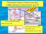 thermocline waters 3 north coral sea a wbc pathway to feed the euc and itf