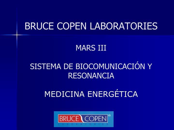 Bruce copen laboratories mars iii sistema de biocomunicaci n y resonancia medicina energ tica