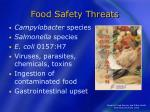 food safety threats