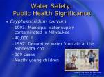 water safety public health significance