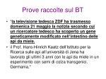 prove raccolte sul bt1