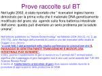 prove raccolte sul bt11