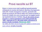 prove raccolte sul bt13