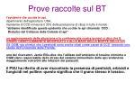 prove raccolte sul bt3