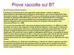 prove raccolte sul bt5