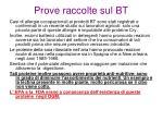prove raccolte sul bt6