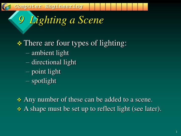 9 lighting a scene n.