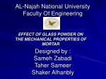 al najah national university faculty of engineering