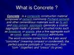 what is concrete