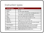 instruction types