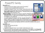 powerpc family