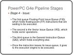 powerpc g4e pipeline stages1