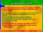 vi building a team