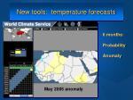 new tools temperature forecasts