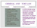 criminal and tort law