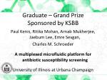 graduate grand prize sponsored by ksbb