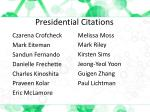 presidential citations