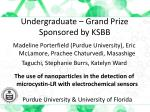 undergraduate grand prize sponsored by ksbb