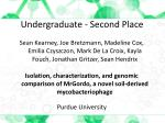 undergraduate second place