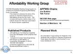 affordability working group