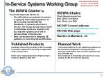 in service systems working group