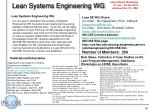 lean systems engineering wg