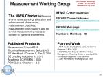 measurement working group