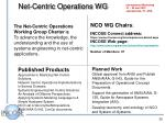 net centric operations wg
