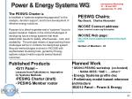power energy systems wg