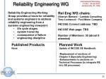 reliability engineering wg