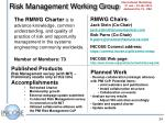 risk management working group