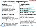 system security engineering wg
