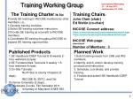 training working group