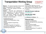 transportation working group