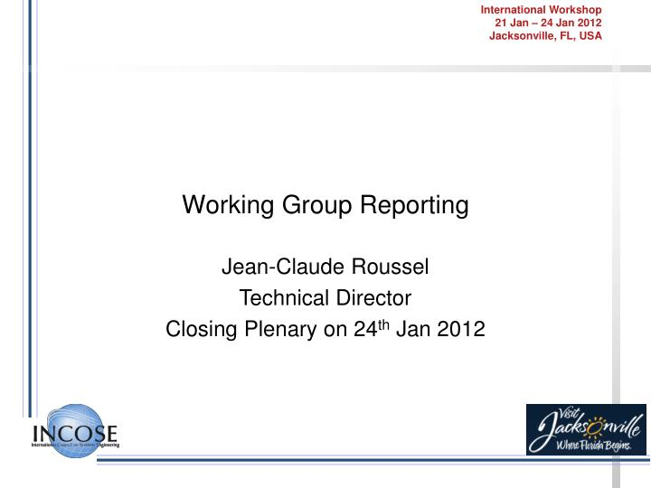working group reporting n.
