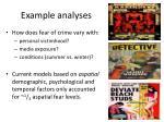 example analyses