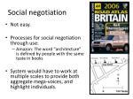 social negotiation