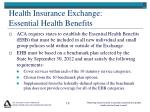 health insurance exchange essential health benefits