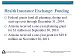 health insurance exchange funding