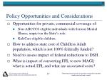policy opportunities and considerations