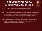 breve hist rico da arbitragem no brasil2