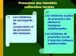 promotion des identit s culturelles locales